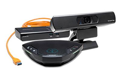 Equipo videoconferencia en masqueproyectores